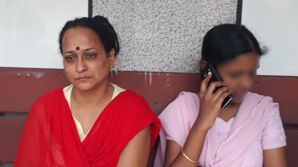 Manjula Devak's mother, Seema (left), accused the scholar's husband of forcing her to quit studies and start a business with him.