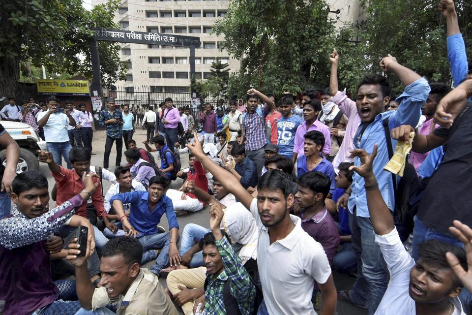 Students had last month protested against the poor pass percentage of the Class 12 Board results in the  Bihar School Examination Board.