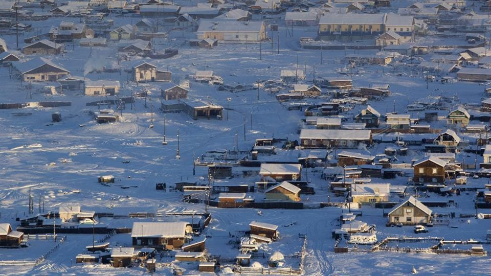 According to the United Kingdom Met Office a temperature of -67.8 degrees Celsius (-90 degrees Fahrenheit) was registered in 1933 - the coldest on record in the northern hemisphere since the beginning of the 20th century. Yet despite the harsh climate, people live in the valley, and the area. (Maxim Shemetov / REUTERS)
