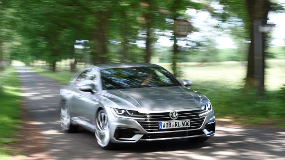 An Arteon car by German carmaker Volkswagen is pictured during a media presentation in Hanover, Germany, on Wednesday.