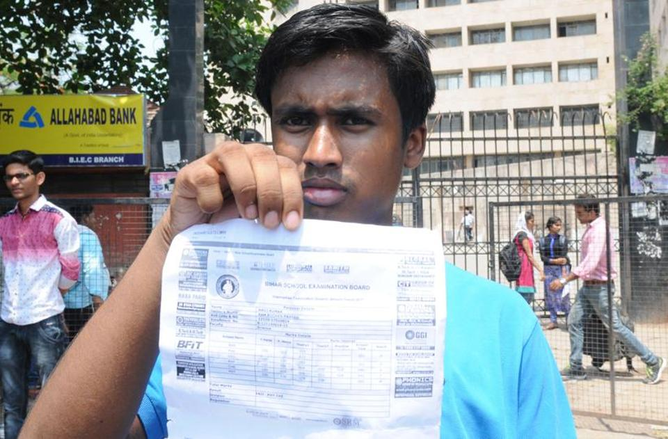 A student who succeeded in the JEE (Mains) failed in the Bihar board Class 12 exams, results of which were declared on May 30.