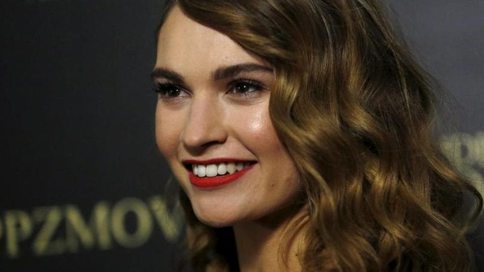 Lily James played Cinderella in the 2015 Disney production.