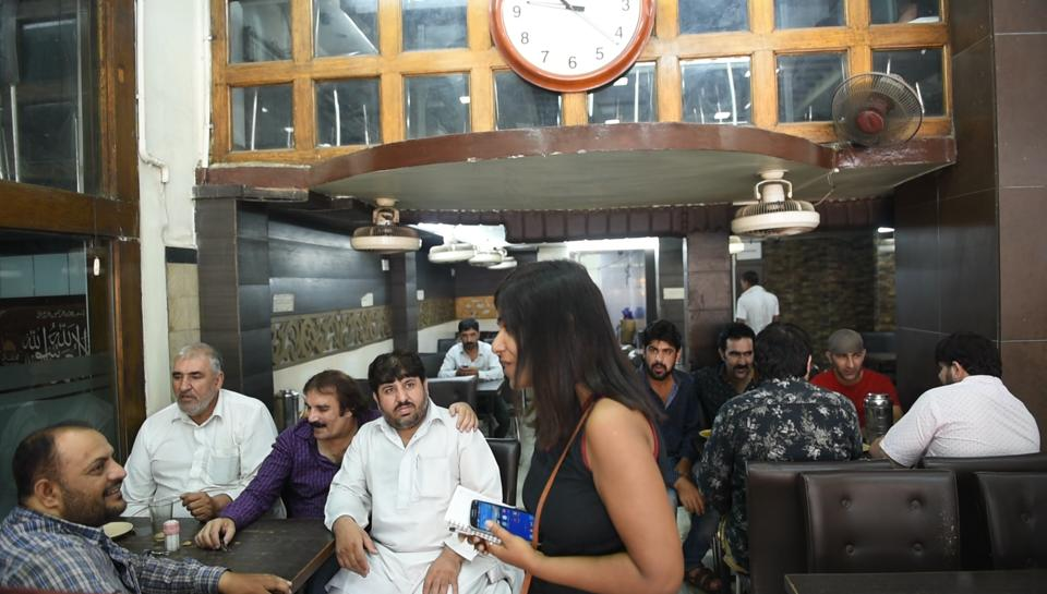 The reporter speaks to Kabuliwalas at a restaurant in Kolkata.