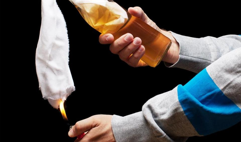Representational image of a Molotov cocktail