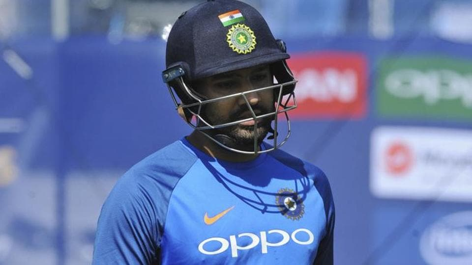 Rohit Sharma in action during India's practice session ahead of ICC Champions Trophy. (AP)