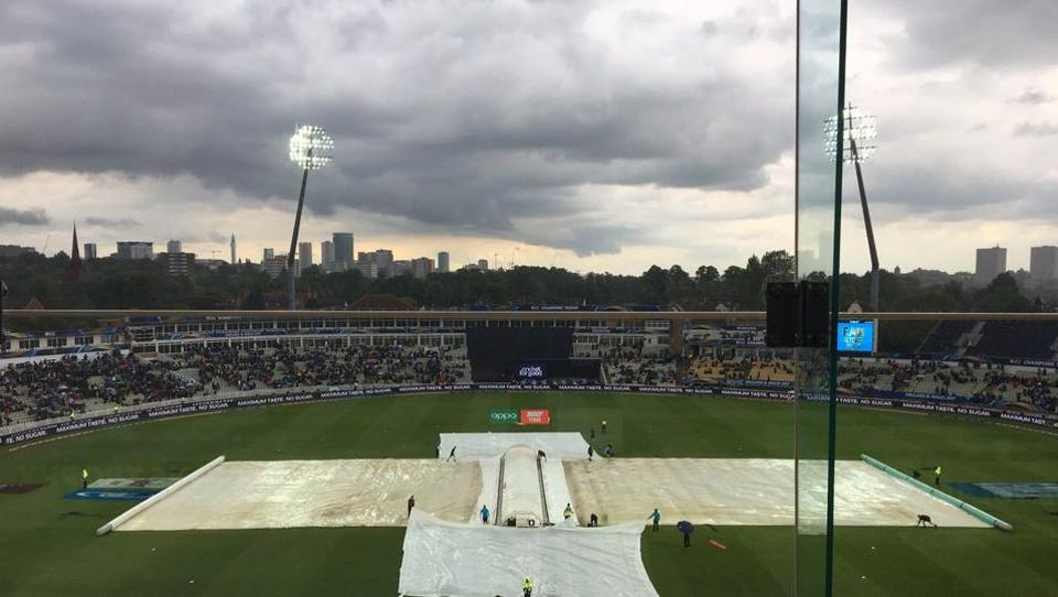 Australia were 53 for three off nine overs when the last of several rain interruptions took the players off the field.  A minimum of 20 overs had to be bowled for a result to be possible but so severe was the final downpour that the umpires decided to abandon the game. Both teams shared a point each.  (Twitter )