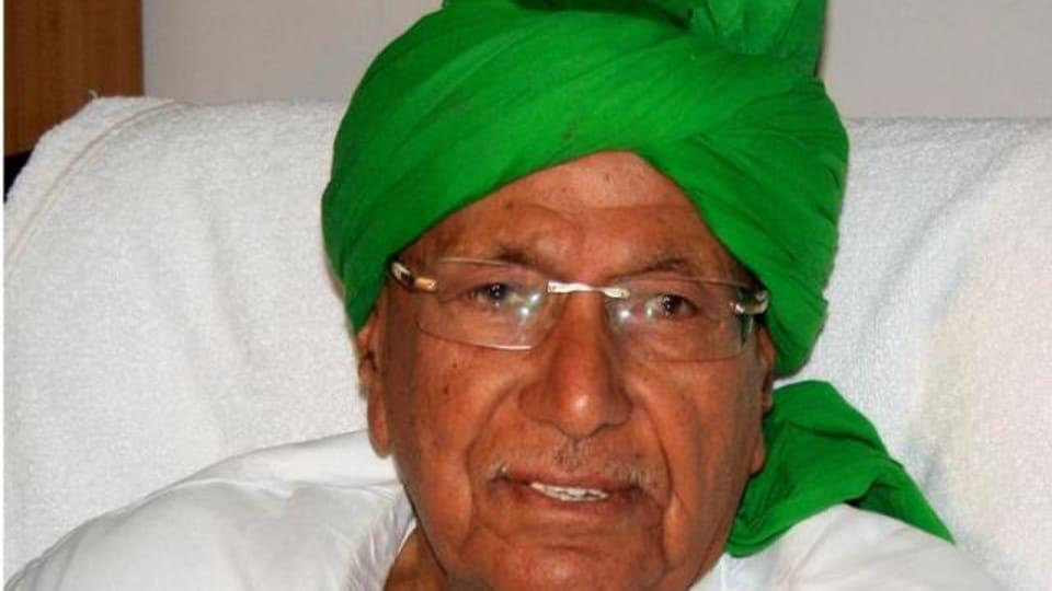 Former Haryana chief minister Om Prakash Chautala