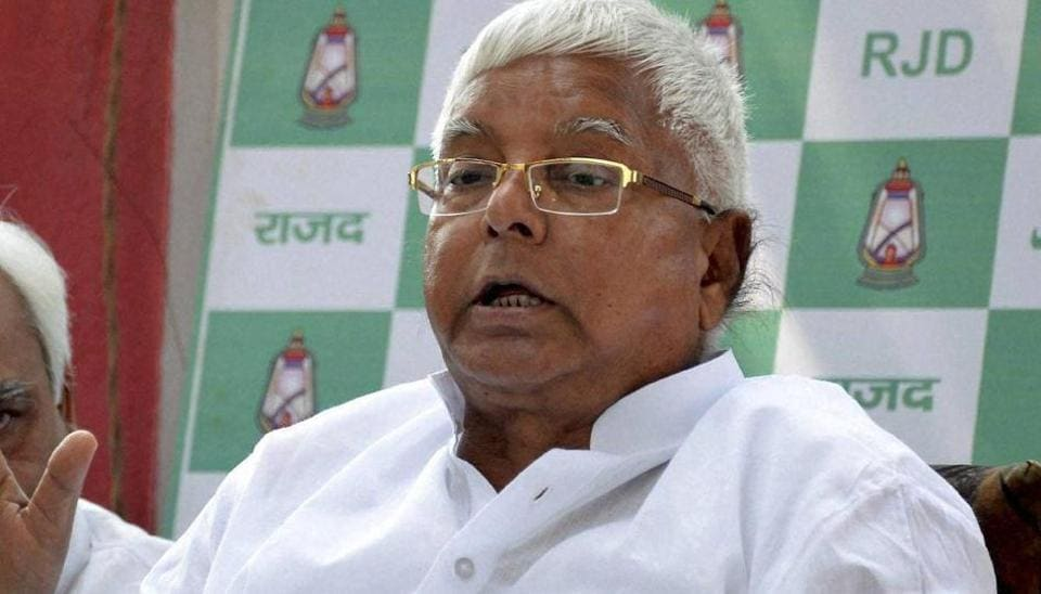 Lalu Prasad will be unable to travel down to Chennai on account of poor health.