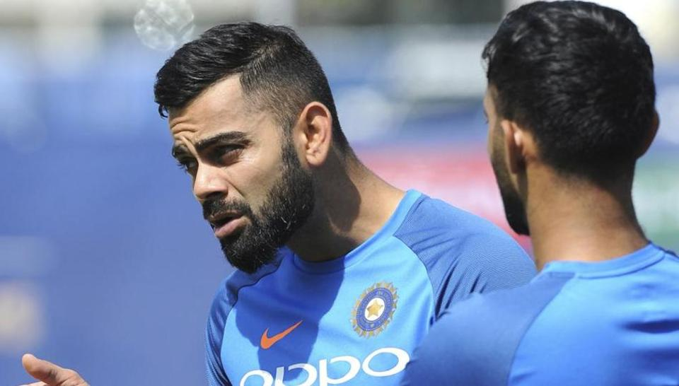 Virat Kohli during Indian's cricket team's practice session ahead of their ICC Champions Trophy opener against Pakistan. (AP)