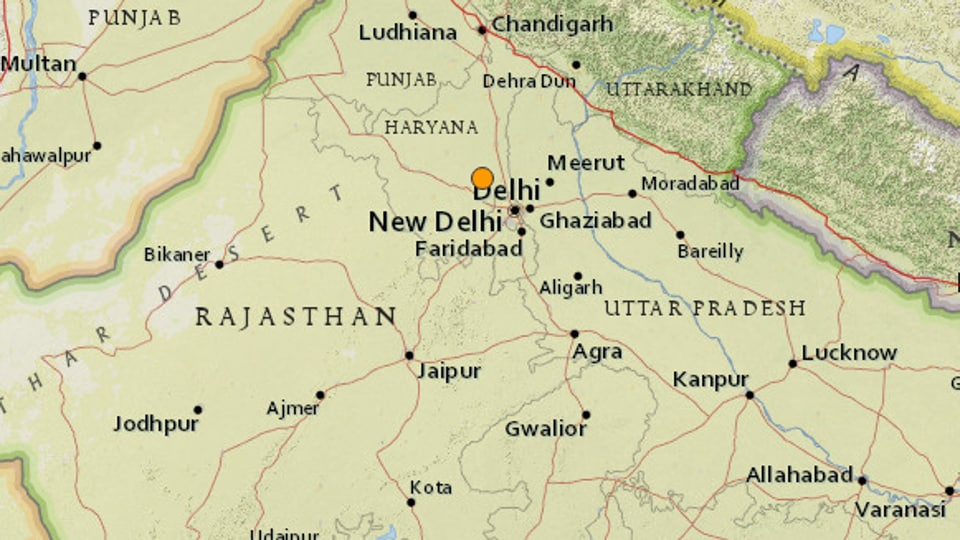 Natural disaster of 5.0 magnitude hits Haryana, northern India