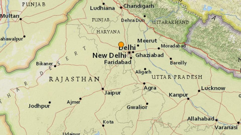 Earthquake,Delhi,Haryana