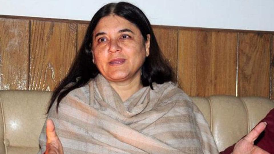 Union Cabinet Minister for Women and Child Development Maneka Gandhi was on Friday admitted in Uttar Pradesh's Pilibhit district hospital after facing difficulty in breathing.