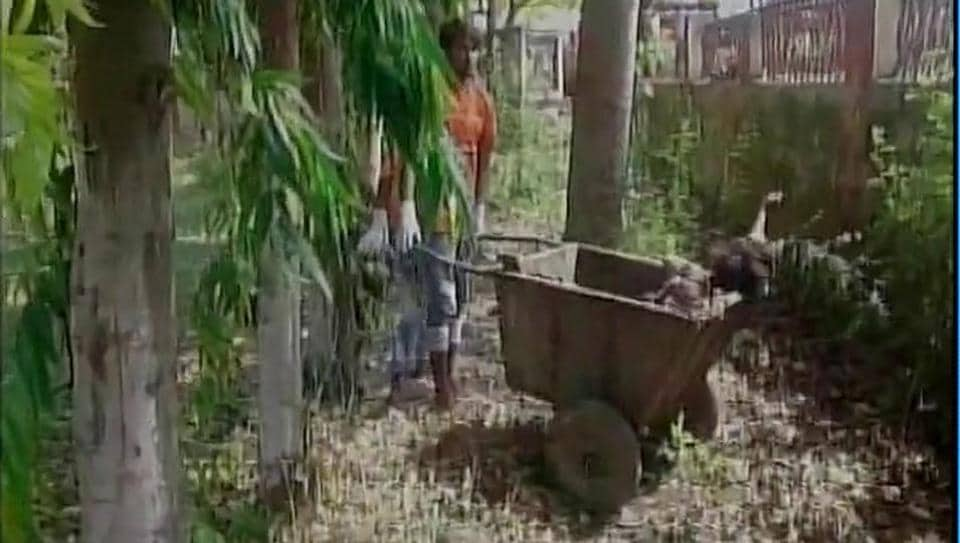 Body of a woman carried in a garbage cart for post-mortem in Muzaffarpur's Sri Krishna Medical College and Hospital.