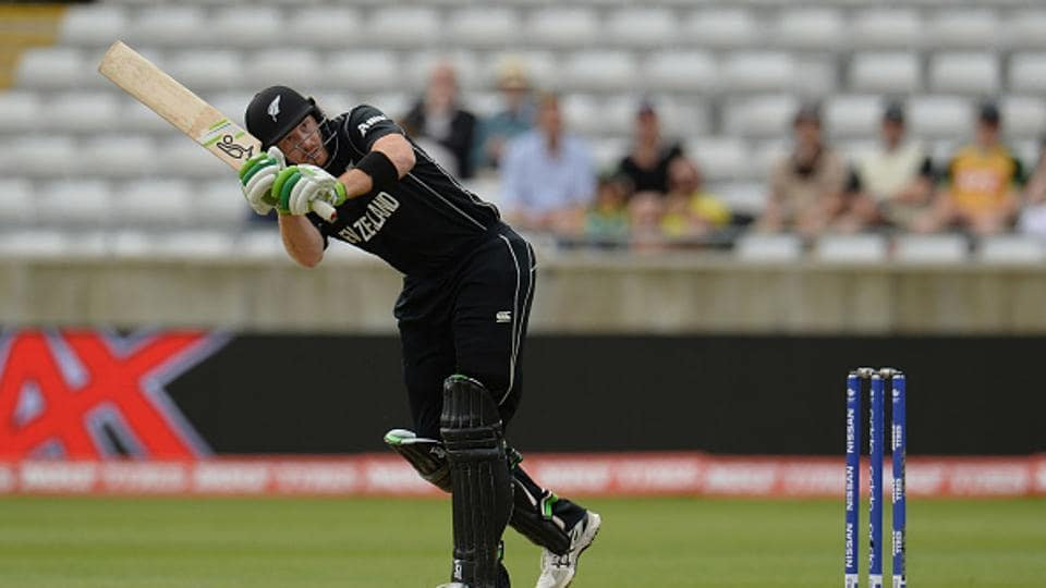 Martin Guptill got off to a good start as he hit five boundaries in the first six overs before being dismissed by Josh Hazlewood.  (Getty Images)