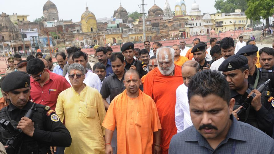 Chief minister Yogi Adityanath has advocated resolving the Ayodhya issue through dialogue.