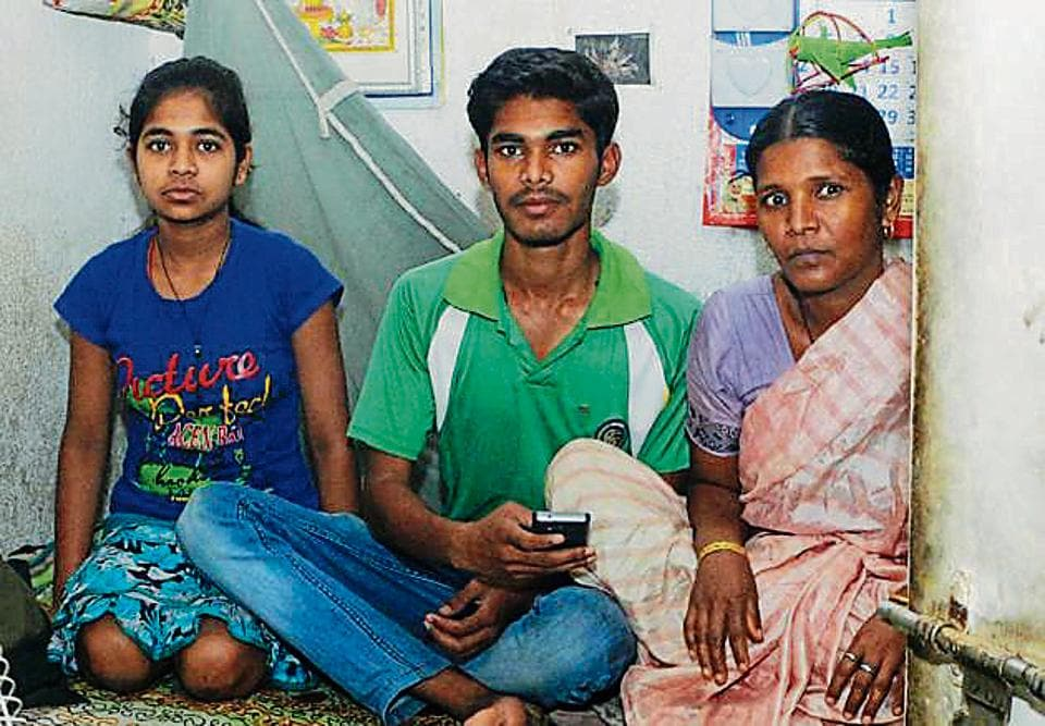 Nitish Kumar Mahato works part-time as a security guard at an apartment. He scored 87.60% in his board exams.
