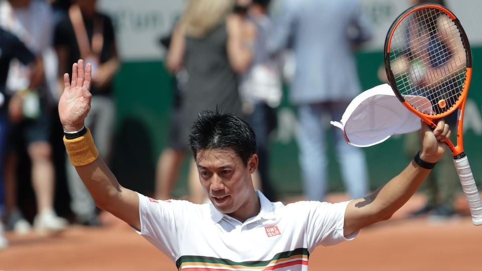 Japan's Kei Nishikori eased into the third round after a straight set win over France's Jeremy Chardy. (AFP)