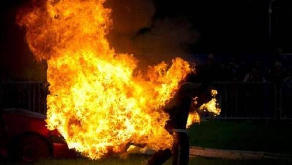 Self immolation,Hyderabad,Osmania General Hospital