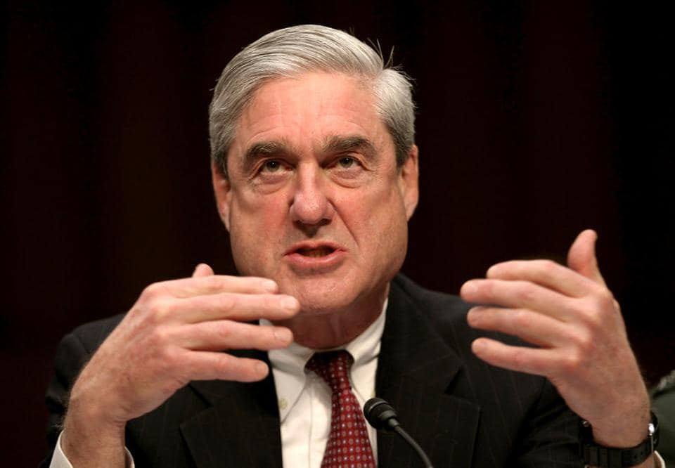 File photo of Robert Mueller testifying at a Senate Intelligence Committee hearing in 2011.