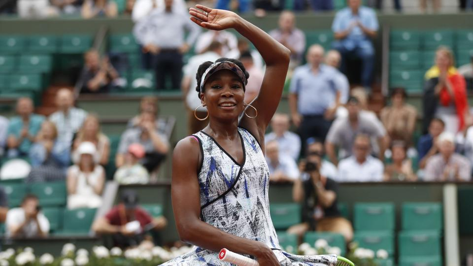 Venus Williams dropped just four games during her win over Belgium's Elise Mertens. (AP)