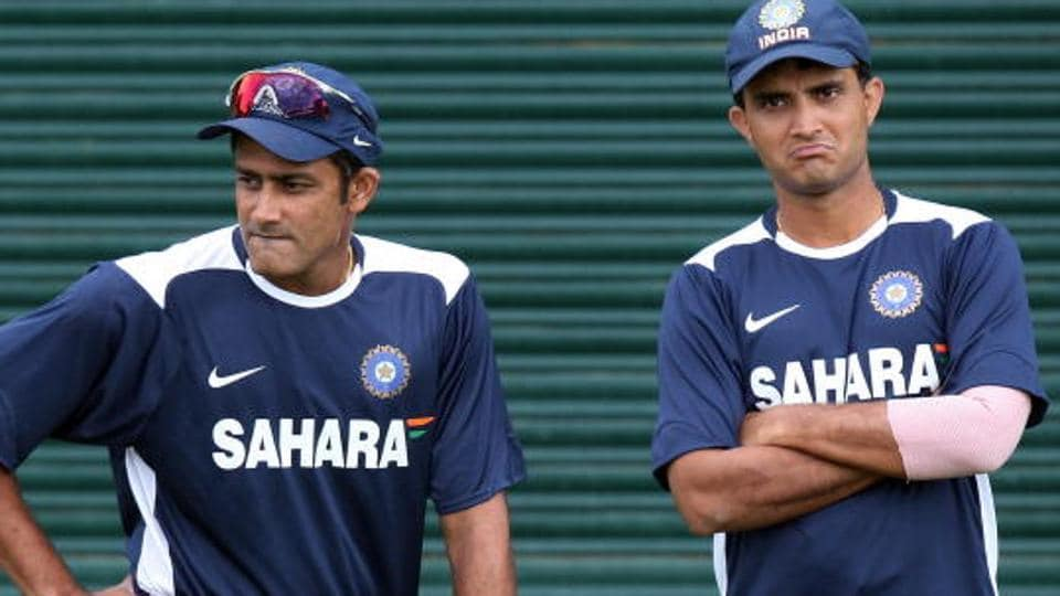 Sourav Ganguly (right) played a key role in Anil Kumble's appointment as the head coach of the Indian cricket team last year. Kumble's term as national coach ends at the end of the ICC Champions Trophy