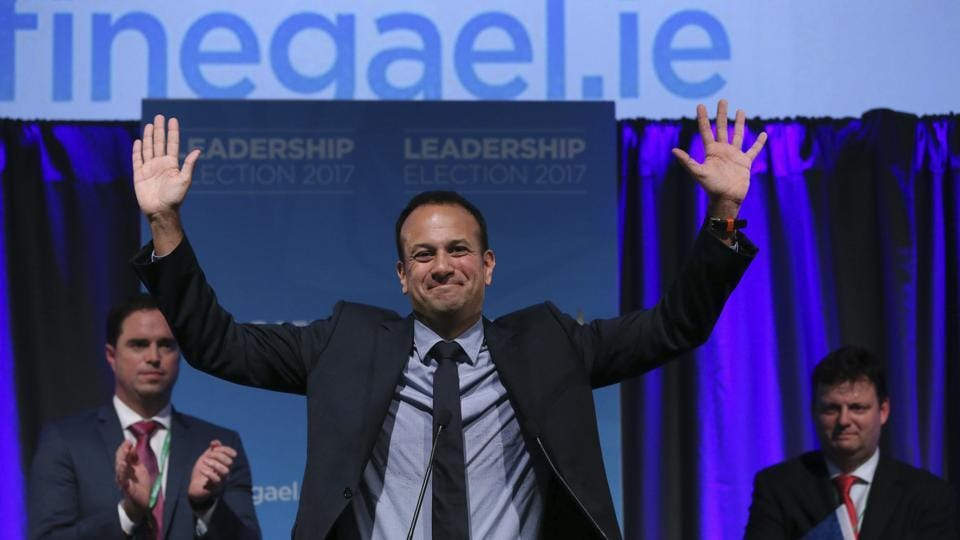 Leo Varadkar celebrates as he is named Ireland's next prime minister, Dublin, June 2. Ireland's governing Fine Gael party has elected Leo Varadkar, the gay son of an Indian immigrant, as its new leader and the country's next prime minister.