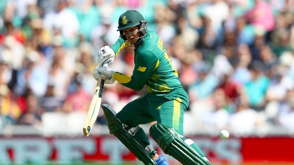 Amla and fellow opening partner Quinton de Kock (23) struggled for runs initially. Nuwan Pradeep gave Sri Lanka the first breakthrough as he removed the southpaw in the 13th over.  (Getty Images)