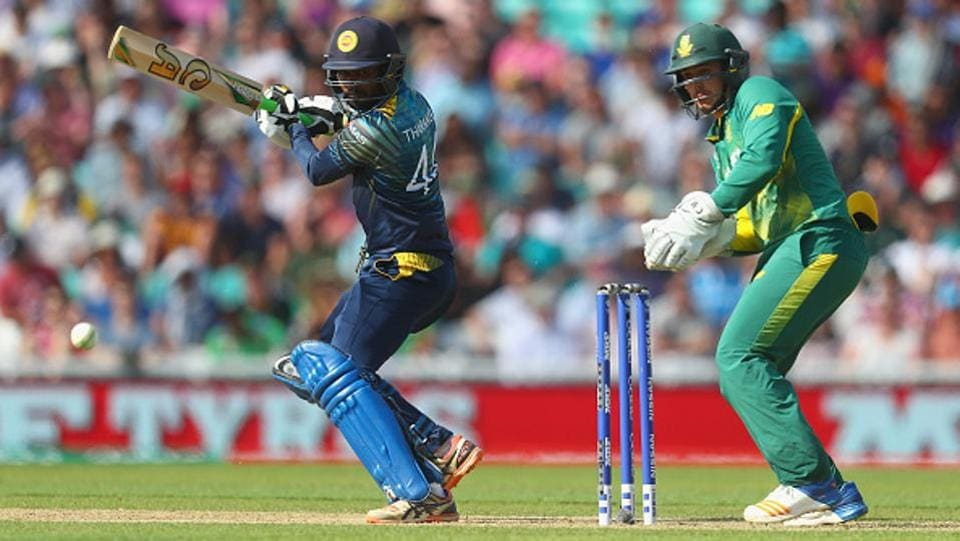 Tharanga held one end and completed his 32nd ODI half-century.  (Getty Images)