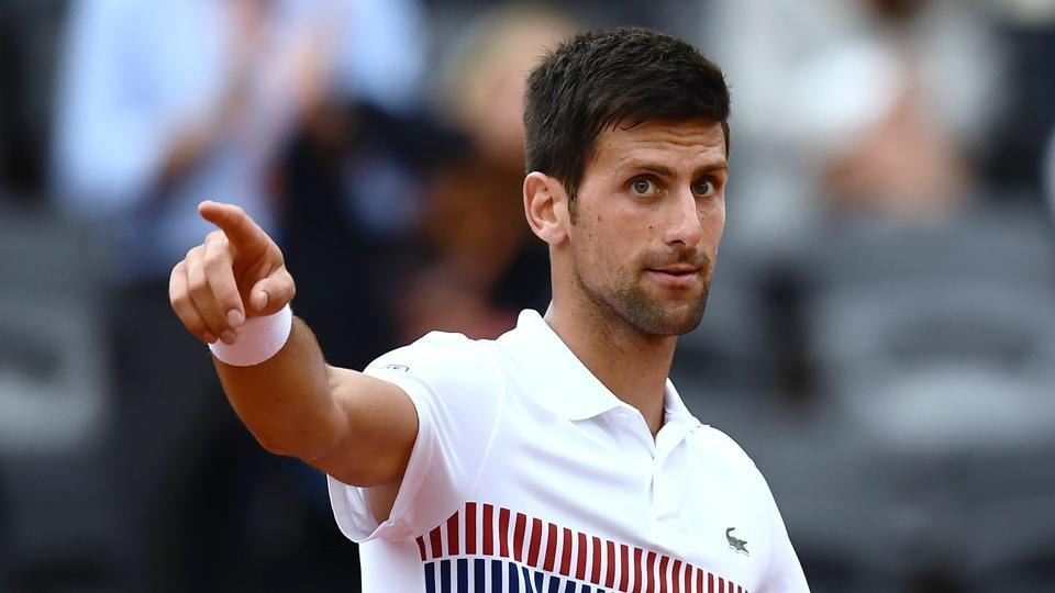 Novak Djokovic had to toil hard against Argentina's Diego Schwartzman, eventually prevailing in four sets. (AFP)