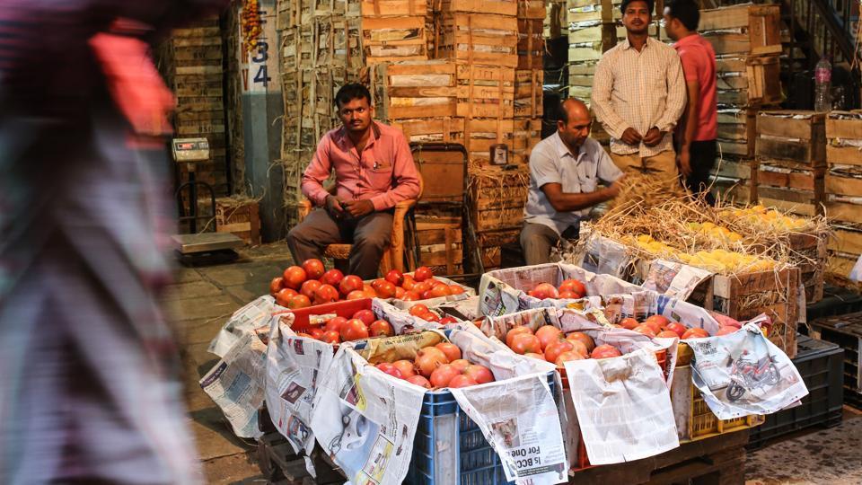 Vendors at Navi Mumbai's APMC market said 220 vegetable-bearing trucks had arrived on Saturday.