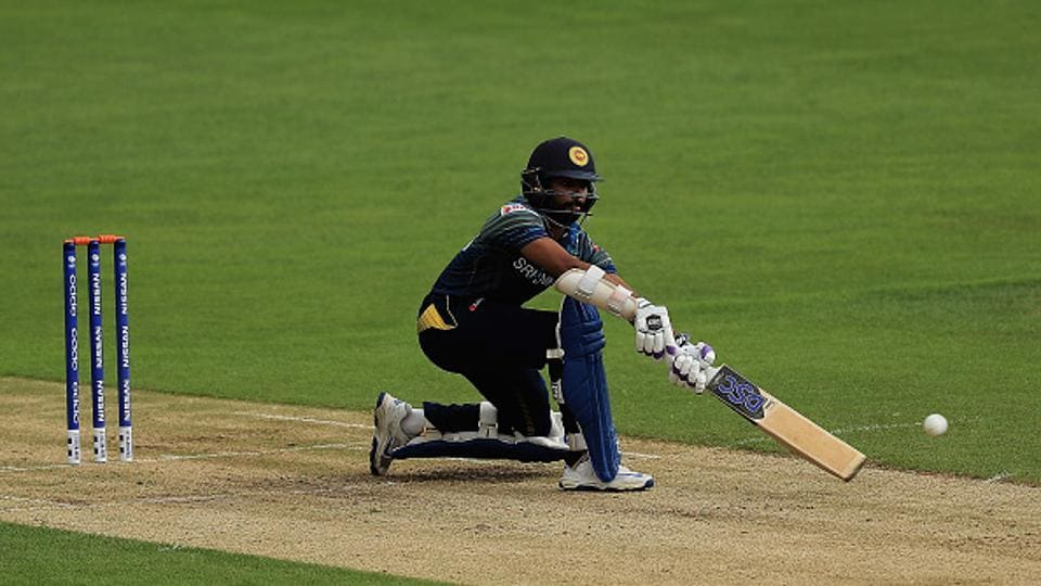 In reply, Sri Lanka got off to a solid start as Niroshan Dickwella (in pic) and skipper Tharanga stitched 69 runs for the first wicket.  (Getty Images)