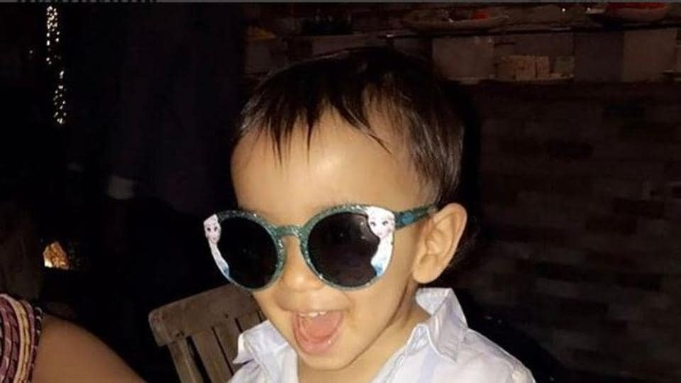 Ahil Sharma, who turned one in March this year, is dad Aayush's new workout buddy!