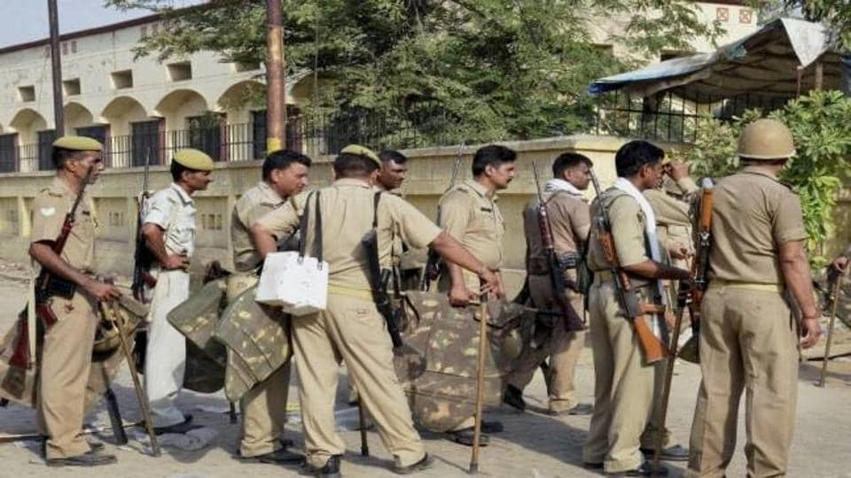 SP city Rakesh Kumar Singh told PTI trouble started when the police raided a house after they received information about cow slaughter on police helpline no. 100.