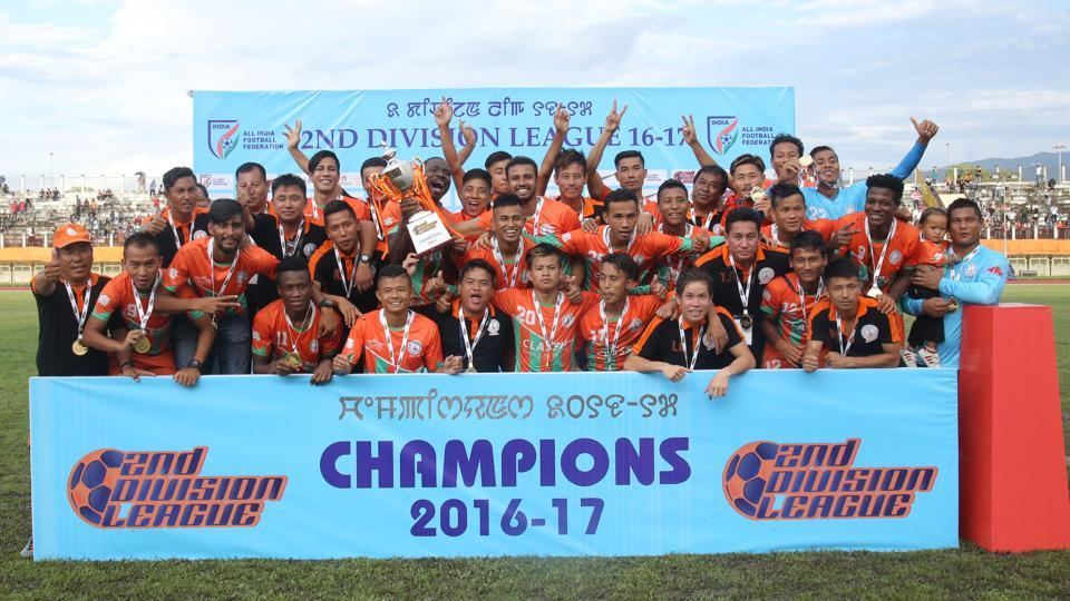 Neroca FC won the second division league to get promoted to I-League this year.