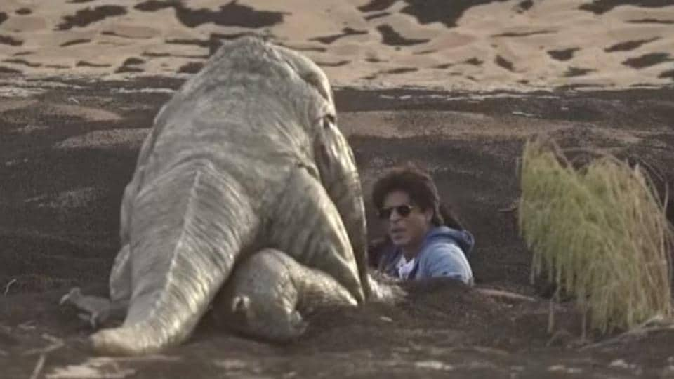 Shah Rukh lost his cool during the ordeal.