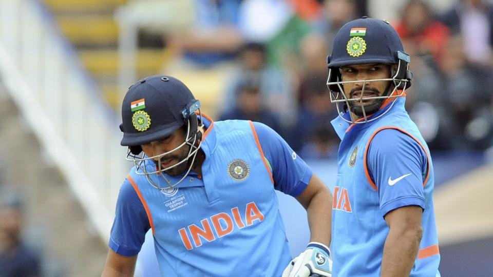 Shikhar Dhawan and Rohit Sharma slammed attacking fifties and their partnership went past 100 as India dominated the 2017 ICCChampions Trophy clash against Pakistan in Edgbaston.