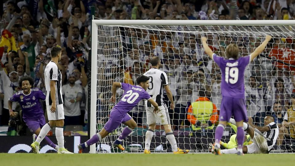 Real Madrid's Marco Asensio then hit the final nail of Juventus' coffin with a goal in the dying minutes. (AP)
