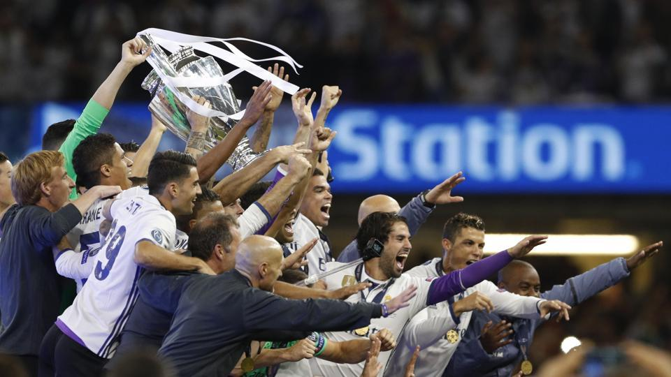 Real Madrid, in the process, have become the first team to win back-to-back Champions League titles. (REUTERS)