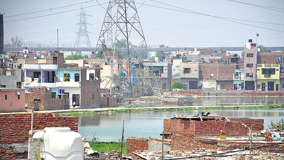 Water bodies and ponds are encroached upon by various agencies, including government authorities, in Ghaziabad.