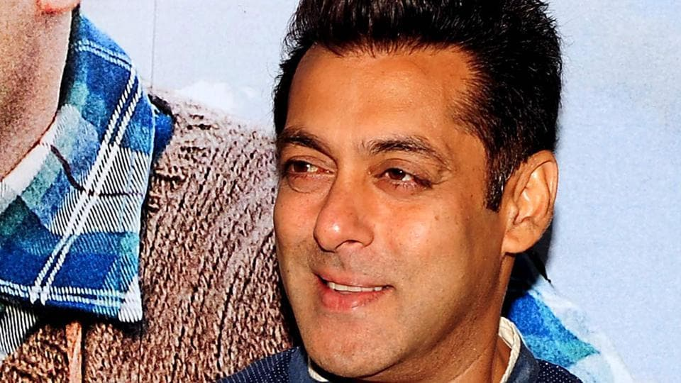 Salman Khan poses during the promotion of his upcoming Hindi film