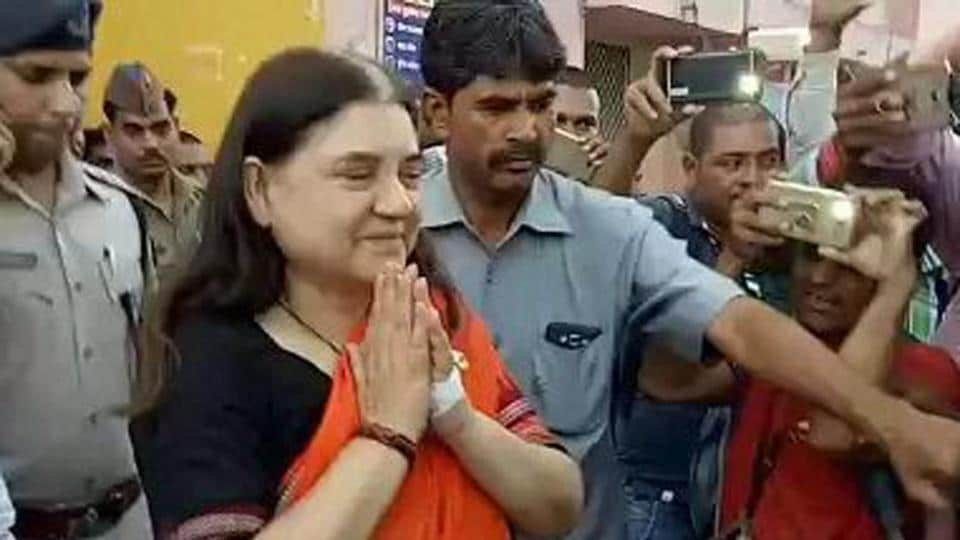 Union minister Maneka Gandhi was airlifted to New Delhi after she fell ill in Pilibhit.