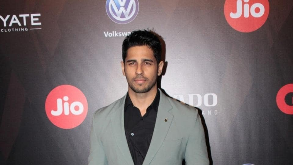 Sidharth Malhotra during the GQ Best Dressed 2017 in Mumbai, on June 3.