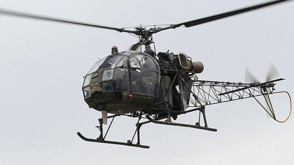 A helicopter entered Indian airspace from Tibetan side and hovered over Barahoti in Uttarakhand on Saturday.