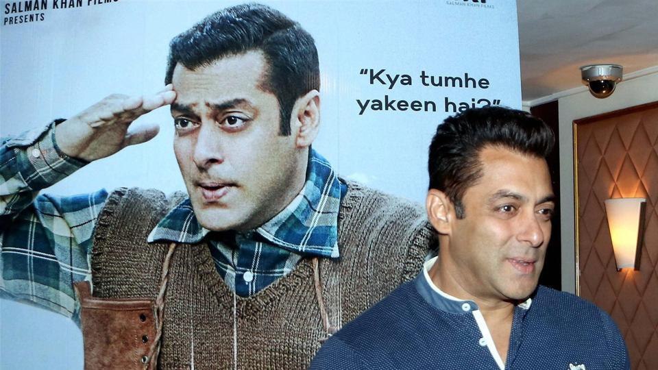 Salman Khan strikes a candid pose during the promotion of his upcoming film Tubelight in Mumbai.