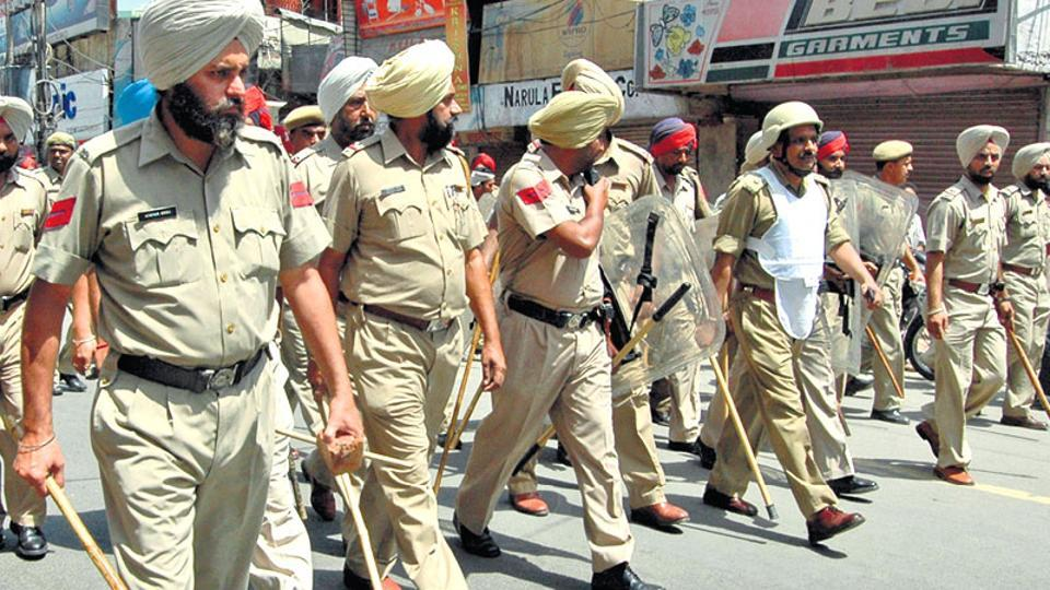 File photo of Punjab Police.  On Sunday the police claimed  it has arrested three terror suspects tasked by Pakistan's ISIto carry out attacks in India.