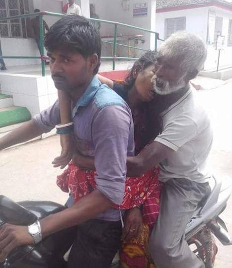 Moved by this image of a man carrying home his wife's body on a motorcyle, the Bihar CM ordered remedial steps.