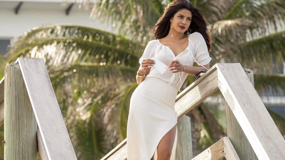 This image released by Paramount Pictures shows Priyanka Chopra as Victoria Leeds in Baywatch.