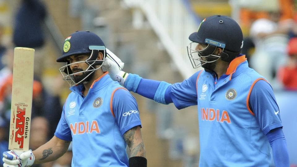 In the final stages of India's innings, Kohli's unbeaten 81, aided by Yuvraj Singh's (R) 32-ball 53, helped India near 300. (AP)