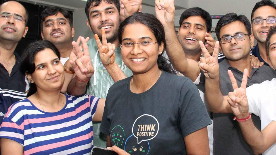 Karnataka's Nandini K R (c) topped the Civil Services Exams 2016 with 55.3%.