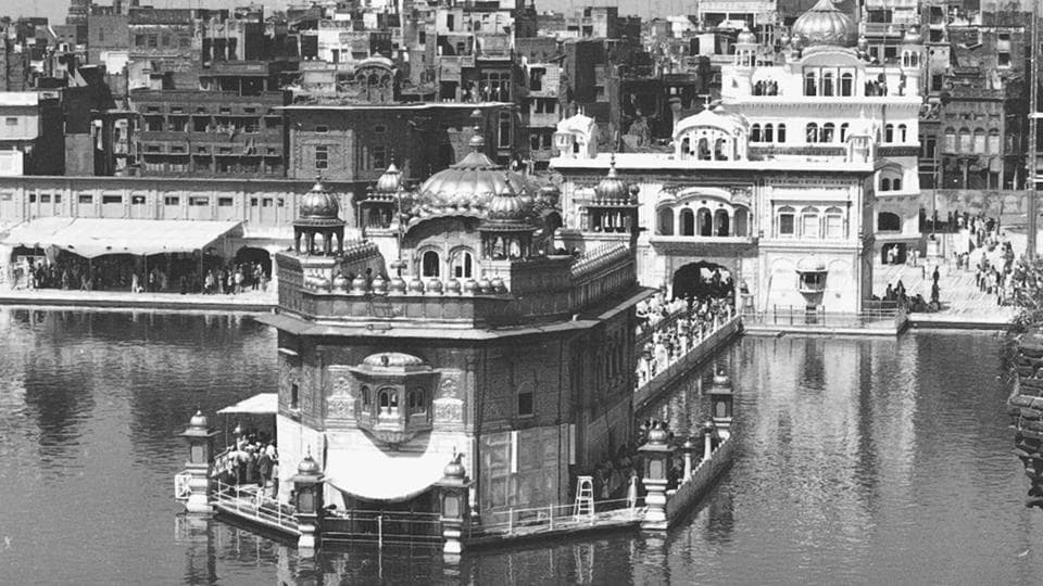 A military operation codenamed Blue Star was launched by the Indira Gandhi government against the surging Khalistani movement in Punjab led by Jarnail Singh Bhindranwale. June 6th,1984 marks the date of armoured shelling on the holy shrine of Akal Takht with Indian armed forces taking effective control of the Harmandir Sahib gurdwara complex the following day.  (HT Photo)